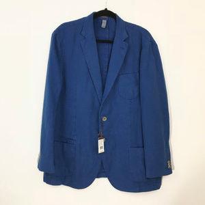 New Peter Millar Royal Blue Linen Sport Coat XL